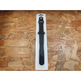 Bracelete Borracha Preta Apple Watch Serie 1 / 2 / 3 / 4 / 5 42mm / 44mm