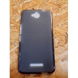 Capa Silicone Preto Transparente Vodafone  Smart 4 Max