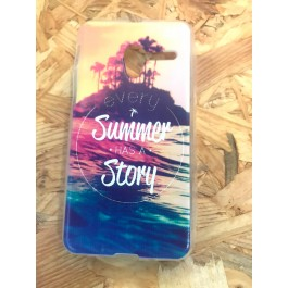 Capa Silicone Frase Summer Has a Story Vodafone Smart Grand 6