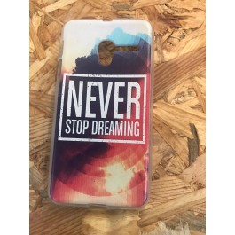 Capa Silicone Frase Never Stop Dreaming Vodafone Smart Grand 6