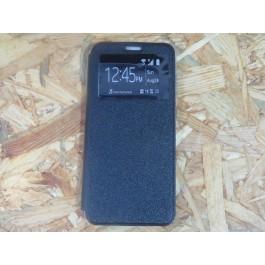 Flip-Cover Preta Samsung A70 / SM-A705F