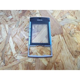 Tampa Frontal Preto & Azul Original Nokia X3-00 Ref: 0254778