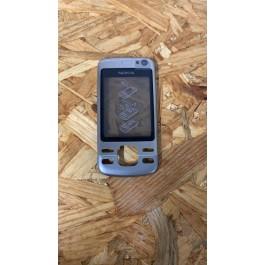 Tampa Frontal Cinza Metal Original Nokia 6600is Ref: 0255250