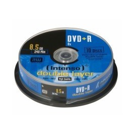 Consumível Pack 25 PCS DVD+R 8.5GB DL 10PCS 8X Intenso