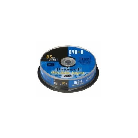 Consumível Pack 25 PCS DVD+R 8.5GB DL 10PCS 8X Intenso