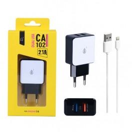 Carregador Iphone 5 & 6 2.1A CA102
