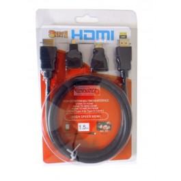 Cabo HDMI 3 em 1